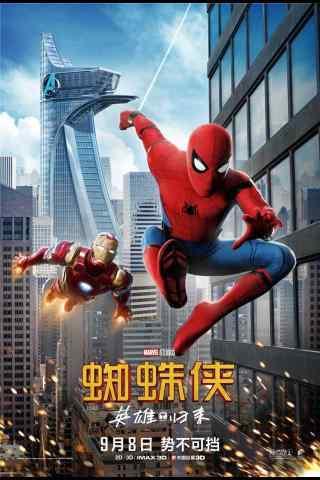 电影蜘蛛侠英雄归来海报手机壁纸