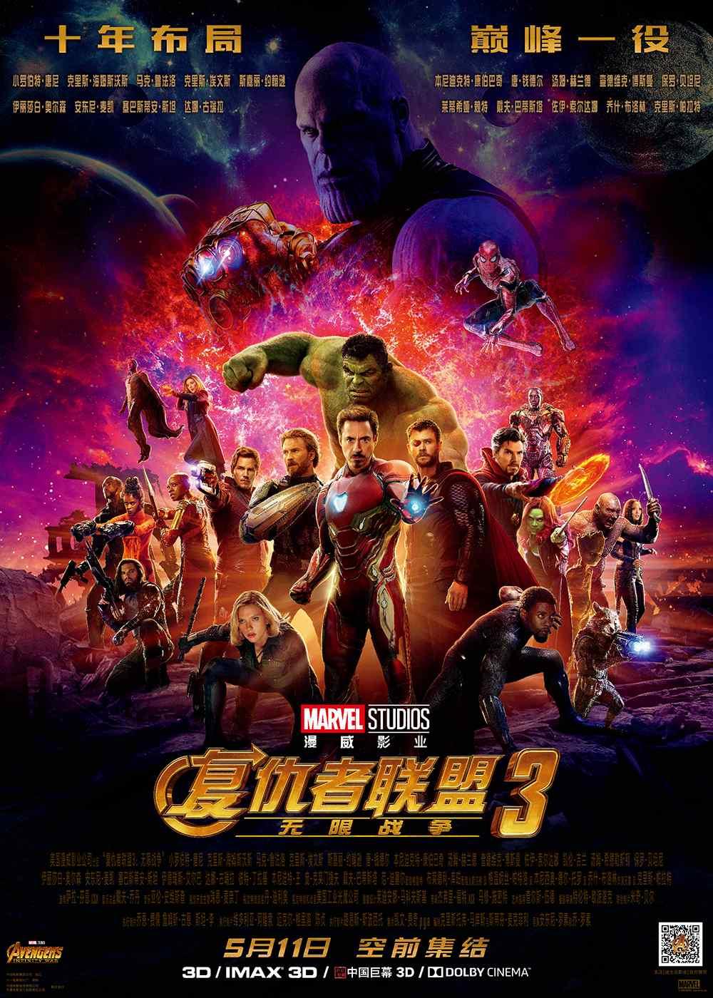 《复仇者联盟3:无限战争》巅峰一役高清海报图片