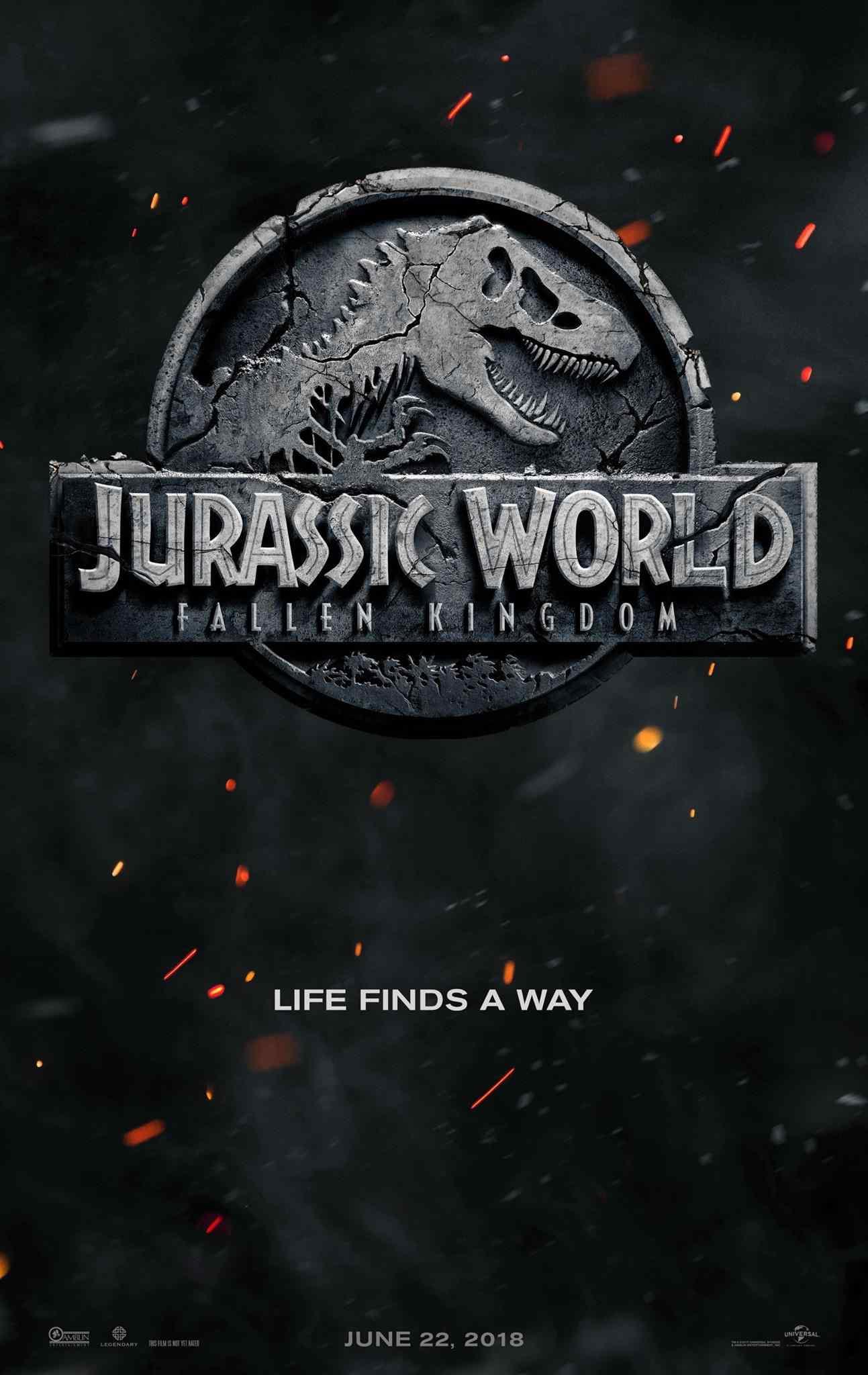 侏罗纪世界2上映日预告版海报