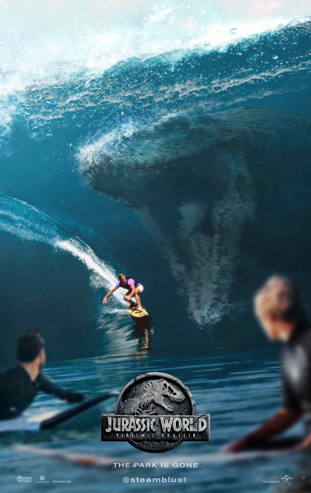 侏罗纪世界2惊恐预告版海报
