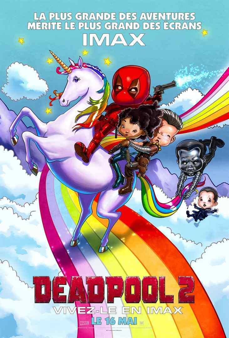 死侍2卡通手绘风格法国正式海报