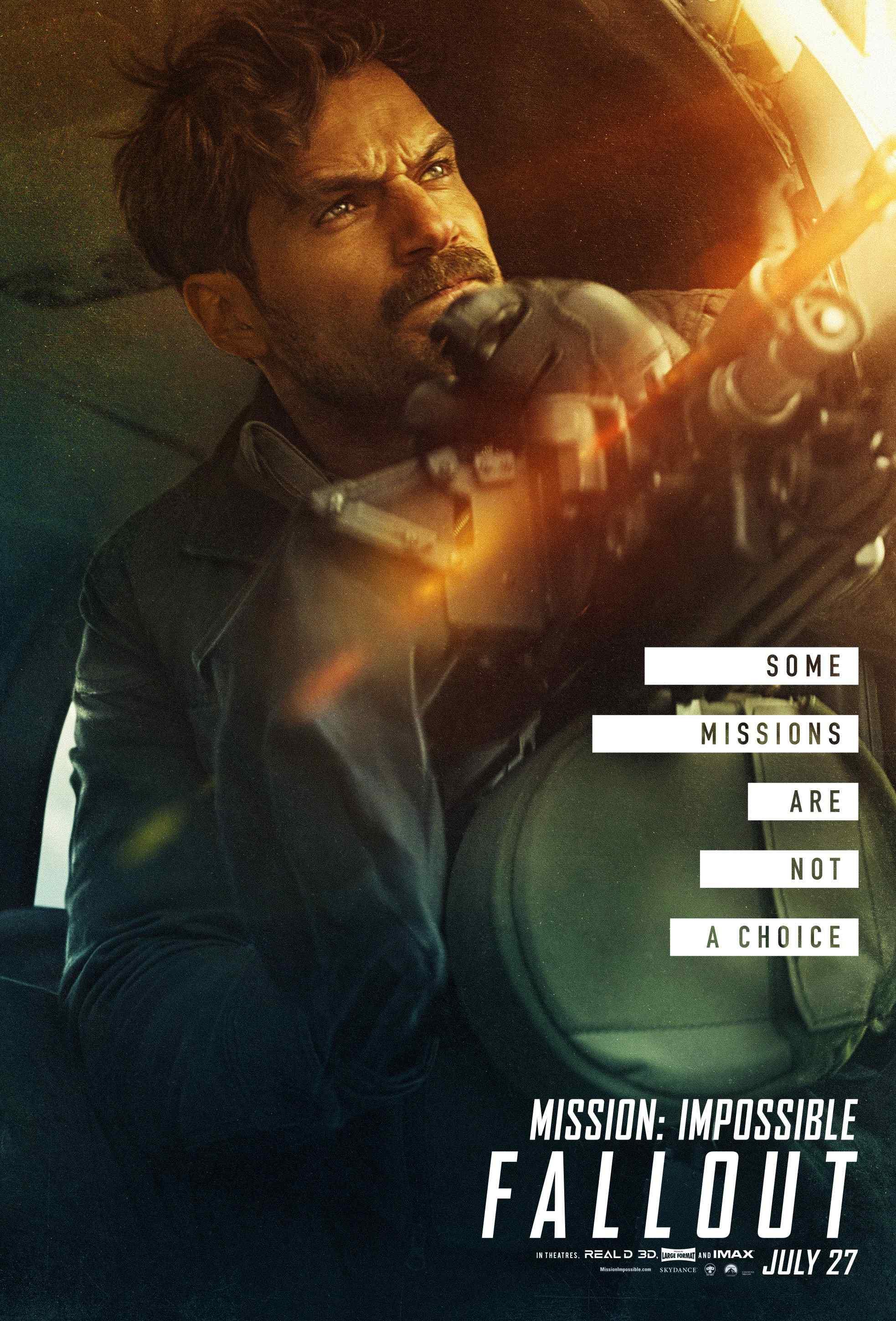 碟中谍6:全面瓦解亨利卡维尔帅气个人角色海报