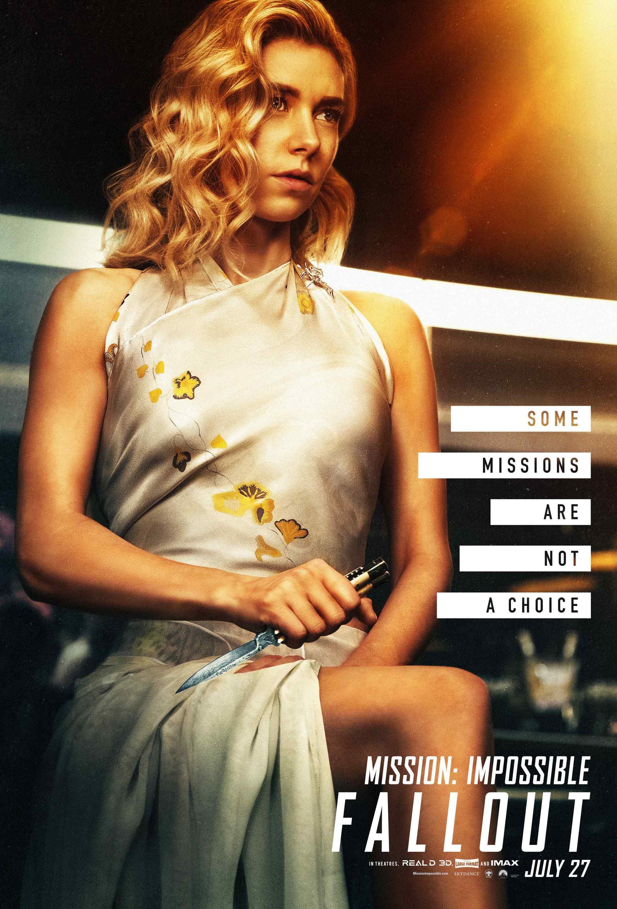 碟中谍6:全面瓦解凡妮莎柯比性感旗袍高清个人角色海报