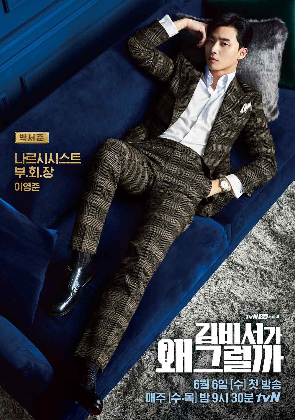 《金秘书为何那样》朴叙俊帅气海报图片