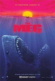 《巨齿鲨》老式恐怖电影海报图片