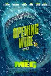 《巨齿鲨》血盆大口惊悚预告海报