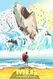 《巨齿鲨》Q版漫画海报图片