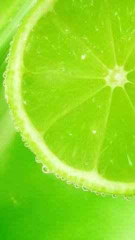 小清新绿色柠檬手