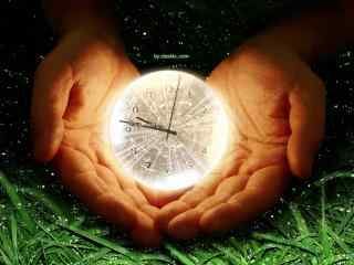 梦幻的水晶球时钟