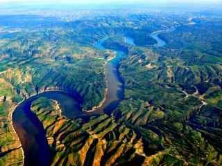 唯美黄河风景动态