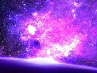 神秘的紫色星空动
