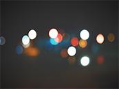 远处模糊的灯光超
