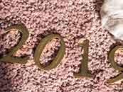 2019数字新年背景