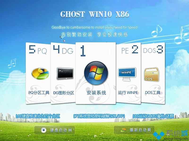 ghost win10 x86(32位)装机纯净版安装部署图