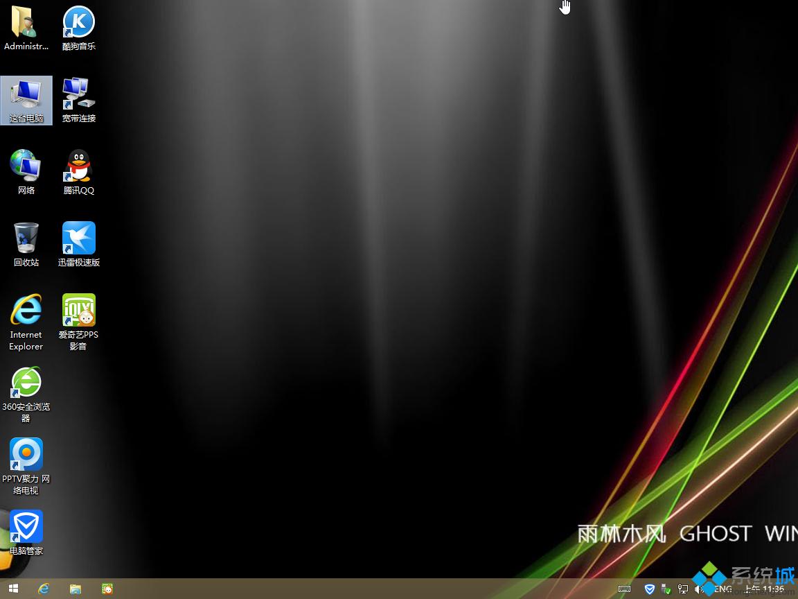 雨林木风ghost win8.1 32位装机修正版桌面图