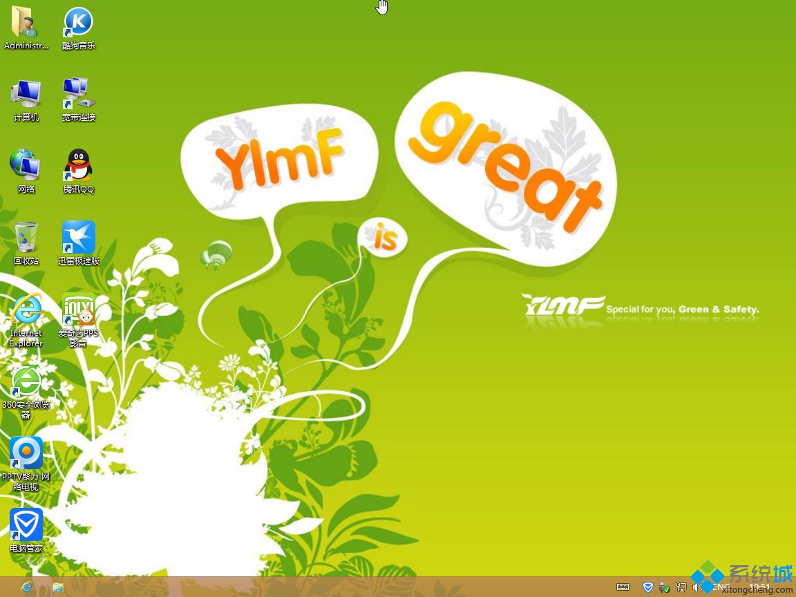 雨林木风ghost win8 64位精简优化版桌面图