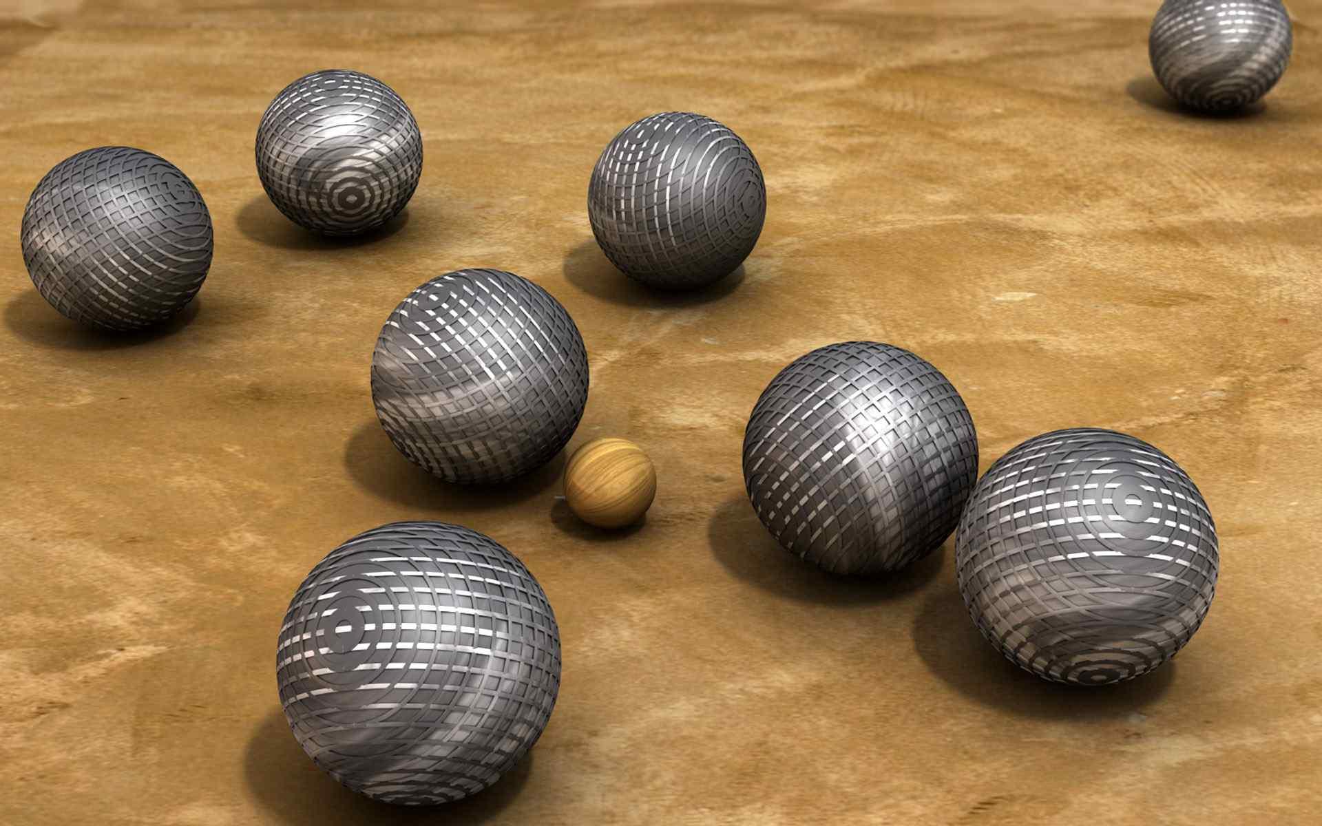 三维球体设计桌面壁纸