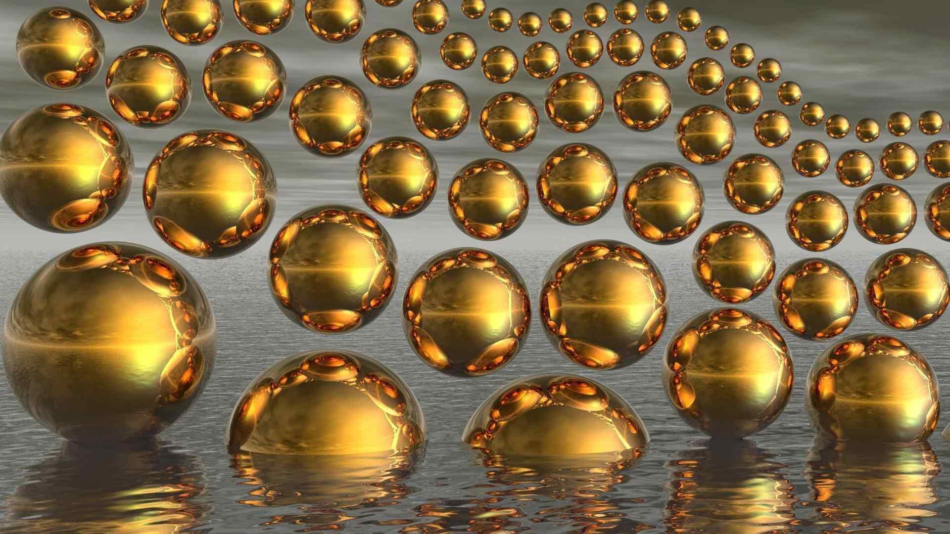 金色魔幻小球奇妙壁纸