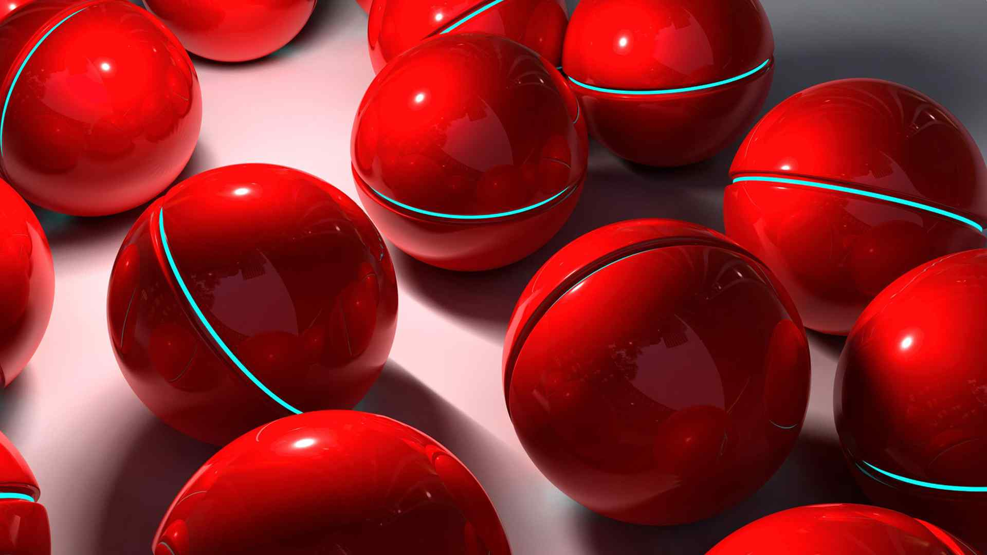 红色动感球体壁纸