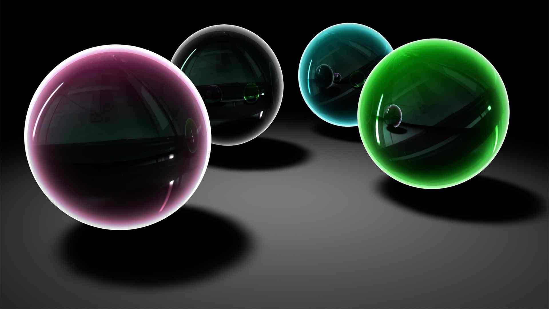 魔幻色彩动感球体壁纸图片