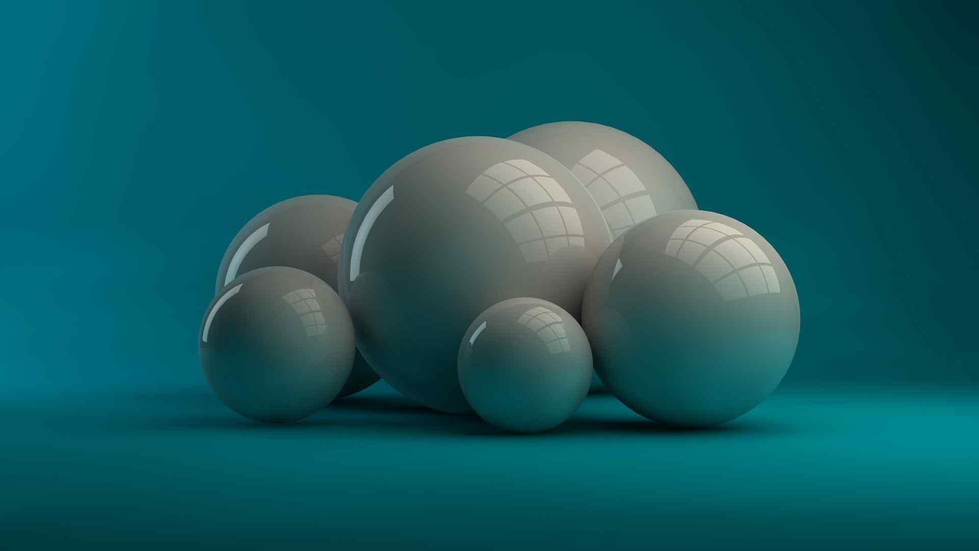 三维立体球高清壁纸
