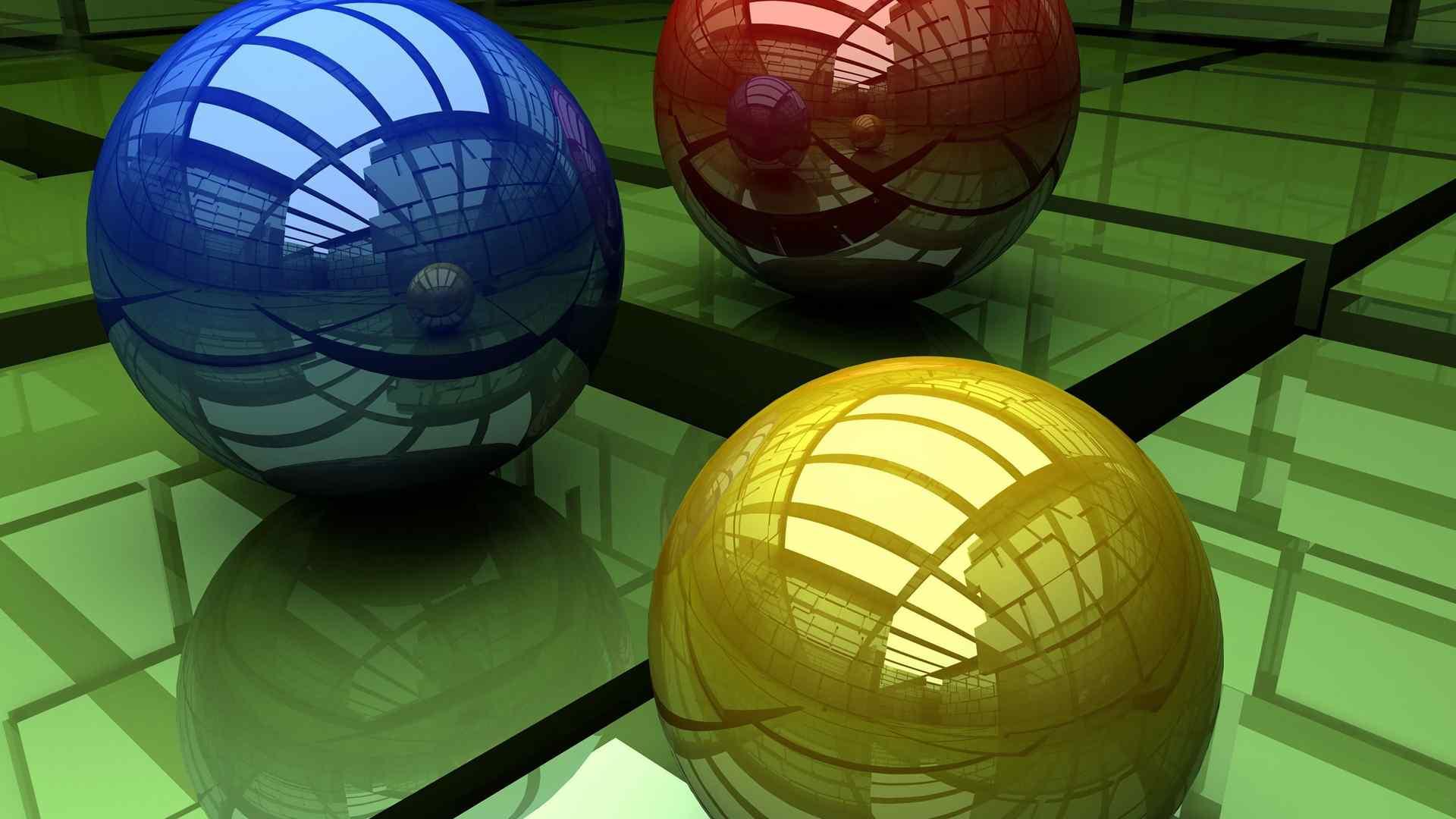 动感三维立体球体设计壁纸