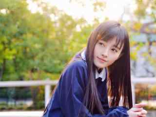 鞠婧祎校园风甜美