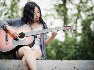 文艺范吉他女生唯