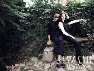 迪丽热巴陈伟霆拍摄时尚杂志桌面壁纸