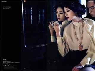 安以轩时尚杂志复古摩登大片桌面壁纸