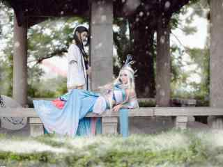 秦时明月之cosplay唯美高雪桌面壁纸