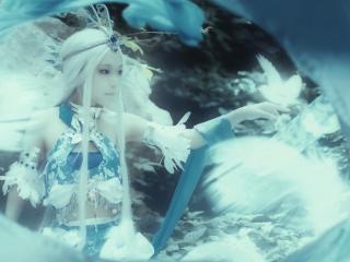 秦时明月之cosplay唯美雪女桌面壁纸