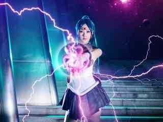 美少女战士之cosplay冥王雪奈桌面壁纸