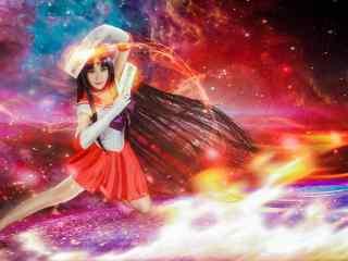 美少女战士之cosplay火野丽桌面壁纸