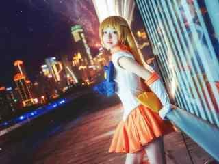 美少女战士之cosplay爱野美奈子桌面壁纸