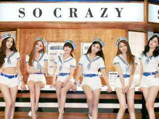 韩国女团清纯性感制服写真桌面壁纸
