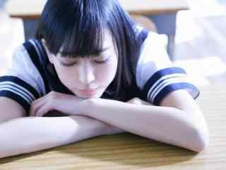 日系少女制服写真高清电脑桌面壁纸