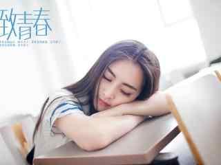 教室少女甜睡写真高清桌面壁纸