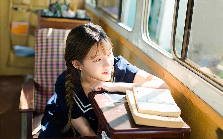 可爱双马尾清纯女孩甜美写真桌面壁纸(二)