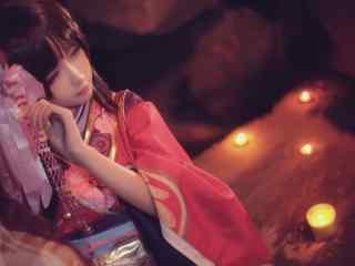 阴阳师cosplay之神乐美女壁纸