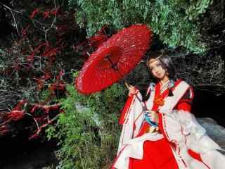 美女阴阳师八百比丘尼cosplay壁纸