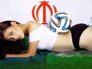 超性感美女足球宝贝桌面壁纸