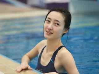 王丽坤出水芙蓉图片桌面壁纸