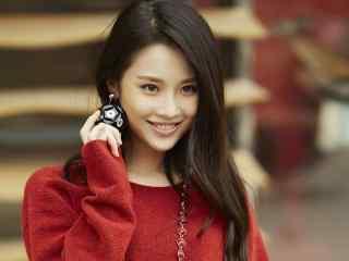 张慧雯美丽笑容桌面壁纸