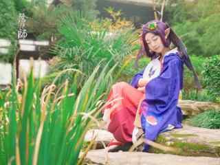 可爱少女cosplay阴阳师式神蝴蝶精