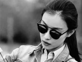 倪妮美图唯美黑白高清图片桌面壁纸