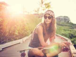 滑板运动欧美唯美图片桌面壁纸