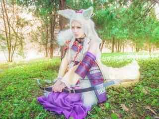 美女cosplay《阴阳师》白狼桌面壁纸