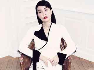 王菲时尚杂志红唇造型个性美拍桌面壁纸