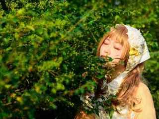 日系美女萝莉田园写真图片